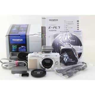 オリンパス(OLYMPUS)のオリンパス PEN Lite E-PL7 ホワイト元箱付+単焦点レンズ45mm(ミラーレス一眼)