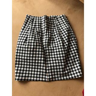 ジーユー(GU)のギンガムチェックスカート(ひざ丈スカート)