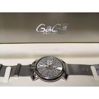 GaGa MILANO (ガガミラノ) 時計 腕時計 スリム46mm シルバー