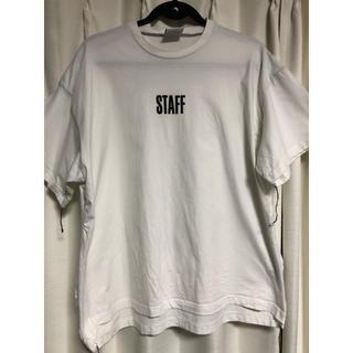 オフホワイト(OFF-WHITE)のVETEMENTS HANES 再構築 tシャツ TEE(Tシャツ/カットソー(半袖/袖なし))