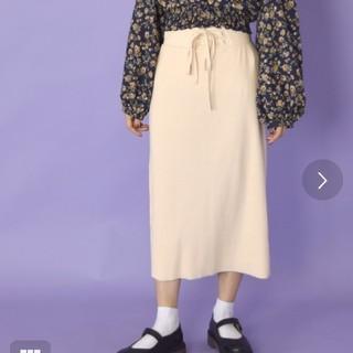 w closet レースアップスカート