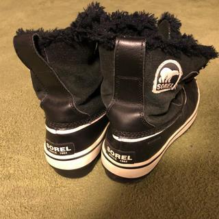 ソレル(SOREL)のSOREL ティボリ スウェード  ブラック 23cm(ブーツ)