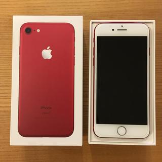 アイフォーン(iPhone)のiPhone7 RED 128GB SIMフリー (スマートフォン本体)
