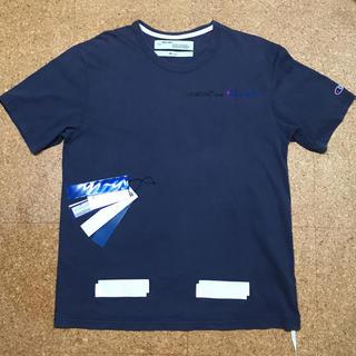 オフホワイト(OFF-WHITE)のoff-white×champion T-shirt M size(Tシャツ/カットソー(半袖/袖なし))