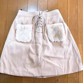 シマムラ(しまむら)の【新品未使用】ダッフィー好きに♥ポケットファーミニスカート(ミニスカート)