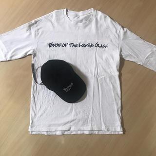 キムジョーンズ(KIM JONES)のKIM JONES GU ヘビーウエイトビックT 七分袖 キャップセット(Tシャツ/カットソー(七分/長袖))