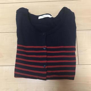 ショコラフィネローブ(chocol raffine robe)のボーダーカーディガン(カーディガン)