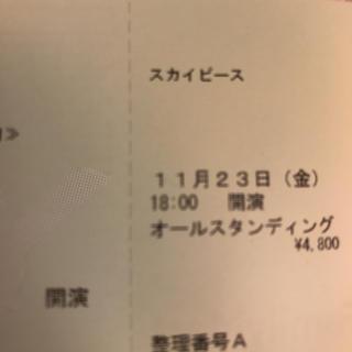 スカイピース チケット 仙台公演(男性アイドル)