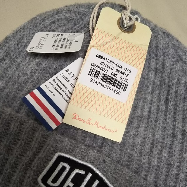 Deus ex Machina(デウスエクスマキナ)の★新品タグ付★ DEUS デウス ニット帽/チャコールグレー メンズの帽子(ニット帽/ビーニー)の商品写真
