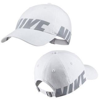 ナイキ(NIKE)のNIKE ナイキ ブルー シーズナル H86 キャップ 帽子 白 ビッグ ロゴ(キャップ)