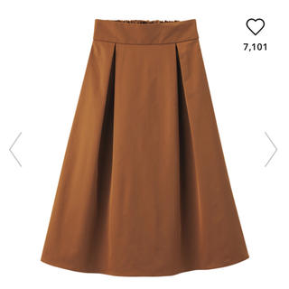 ジーユー(GU)の【新品未着用】GU ミディスカート ブラウン サイズM ★送料込(ひざ丈スカート)