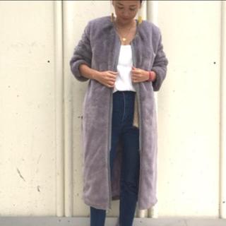 シキカトウキョウ(Shikica Tokyo)のkiira エコベルベットファーコート 未使用 タグ付き(毛皮/ファーコート)