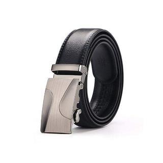 ベルト メンズ ビジネス ベルト本革 レザー 自動バックル サイズ調整可能 通勤(ベルト)