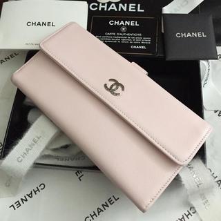 可愛い♡CHANEL長財布✨ゼブルガ✨ブリリアントCC✨Wホック✨ライトピンク♡