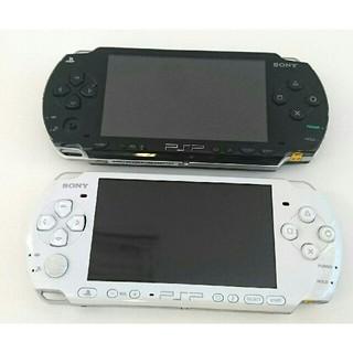 プレイステーションポータブル(PlayStation Portable)の☆あほねこ0410様専用☆PSP1000ブラックPSP3000ホワイト セット (携帯用ゲーム本体)