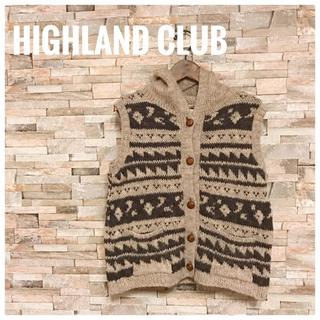 ハイランドクラブ(Hiland Club)の極美品 Highland Club ニットベスト ウール(ニット/セーター)