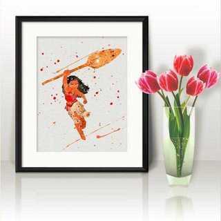 ディズニー(Disney)の日本未発売!モアナ2(モアナと伝説の海)アートポスター【額縁つき・送料無料!】(ポスター)
