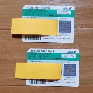 ANA 株主優待券 2019年11月30日期限 2枚 ★追跡有(航空券)