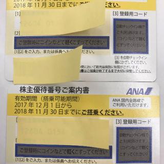 カーフ様専用出品 ANA株主優待券 8枚(航空券)