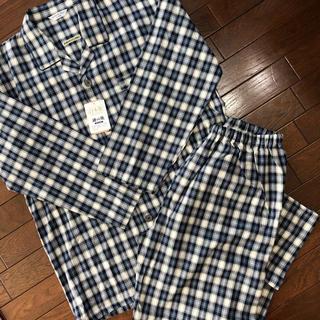 日本製 播州織のパジャマ上下セット メンズ  Lサイズ 新品