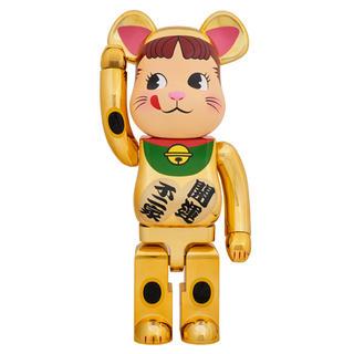BE@RBRICK 招き猫 ペコちゃん 金メッキ 1000%