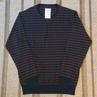ムジルシリョウヒン(MUJI (無印良品))の無印良品 ボーダークルーネックセーター(ニット/セーター)