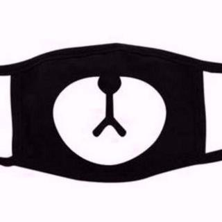 無言OK 激安 新品 クマ マスク 黒 ブラック マスク 送料無料 83(その他)