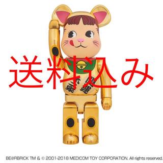 新品 be@brick 招き猫 ペコちゃん 金メッキ 1000%