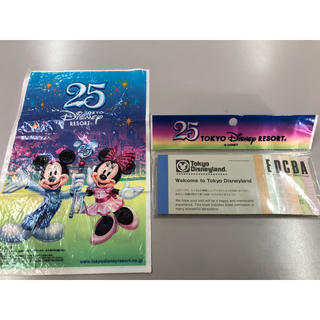ディズニー(Disney)のディズニー 25周年 メモ帳(キャラクターグッズ)