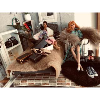 ポピー、バービー、ファッションロイヤリティドールなどののリアルファーの色々(ぬいぐるみ/人形)