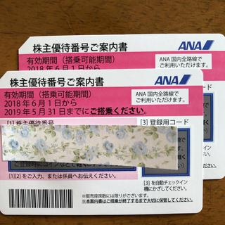 エーエヌエー(ゼンニッポンクウユ)(ANA(全日本空輸))のANA株主優待券 2まい(航空券)