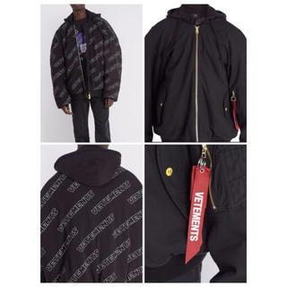 バレンシアガ(Balenciaga)の新品 vetements Oversized bomber jacket M(フライトジャケット)
