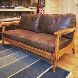ダブルティー(WTW)のwtw  tismo sofa leather 2s レザー ソファー (二人掛けソファ)