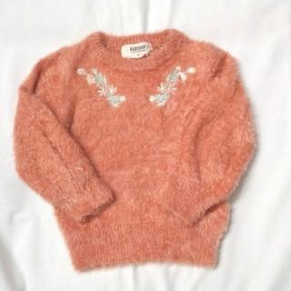 ブランシェス(Branshes)のRADCHAP size90cm もこもこ刺繍セーター(ニット)