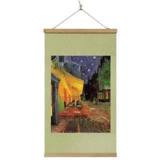 『夜のカフェテラス』 掛け軸 タペストリー(絵画/タペストリー)