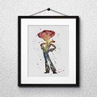 ディズニー(Disney)のジェシー(トイストーリー)アートポスター【額縁つき・送料無料!】(ポスター)