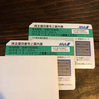 【 ANA 】株主優待券  2枚(航空券)