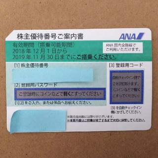 ANA 株主優待券 1枚 有効期限 2019年 11月30日(航空券)