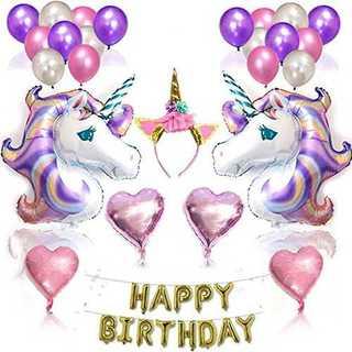 【売れてます!!】ユニコーン バルーン 風船 飾り付け 誕生日 happy(その他)