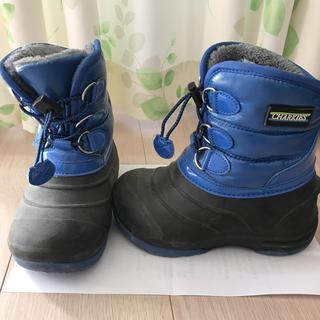 子供用ブーツ 19センチ 青(ブーツ)