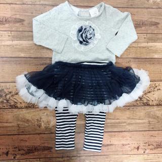 コアラベビー(KOALA Baby)のコアラベビー フリルチュチュスカートxトップス 上下セット 女の子 6M(Tシャツ)