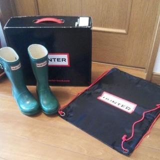 ハンター(HUNTER)の値下げ♪☆HUNTER グリーン 16cm(長靴/レインシューズ)