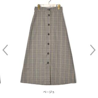 チェックロング丈スカート Wクローゼット