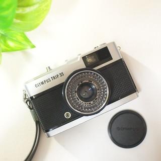オリンパス(OLYMPUS)の【保証有り】整備済み・完動品。レンズキャップ付き♪OLYMPUS TRIP35(フィルムカメラ)