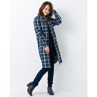 イング(INGNI)のINGNI ♡チェックシャツ ワンピース(ロングワンピース/マキシワンピース)