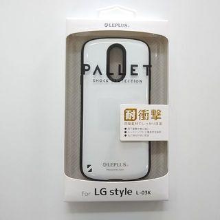 エルジーエレクトロニクス(LG Electronics)のl- 03k ハイブリッドケース 耐衝撃 PALLET パレット [ホワイト](Androidケース)