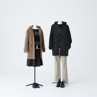 ムジルシリョウヒン(MUJI (無印良品))のムジラボ ウールカシミヤメルトンフーデッドコート(ロングコート)