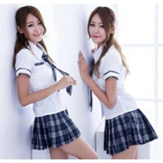 人気! 女子高生 コスプレ 衣装 制服 ネクタイ付き フリーサイズ 学生服(衣装)