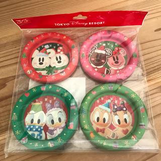ディズニー(Disney)の新品未使用TDSTDRTDLディズニーリゾートクリスマスコースターセット30周年(テーブル用品)