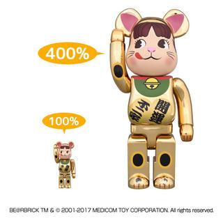 BE@RBRICK 招き猫 ペコちゃん 金メッキ 100%&400% 不二家